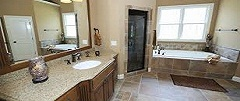 Cabinet replacement and cabinet refacing completes your Bathroom remodel.